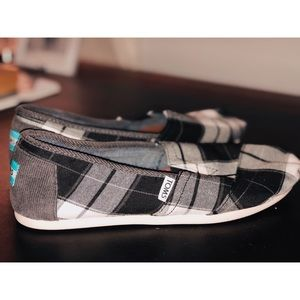 Toms Checked Shoe 8W